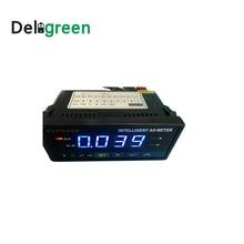 Inteligentny licznik godzin Amp HB404 z czerwonym/niebieskim wyświetlaczem cyfrowym ECPC404 amperomierz woltomierz 500V
