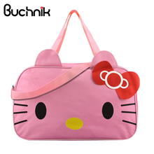 Hello Kitty Women's Travel Bag Girl's Cute Messenger Handbag Clothes Storage Org