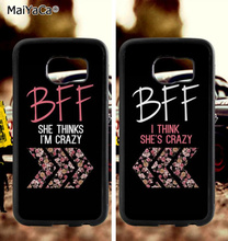 BFF she thinks i am crazy soft TPU edge mobile phone cases for samsung s6 edge plus s7 edge s8 s9 S10 plus lite e note8 note9 dragon ball z goku soft tpu edge mobile phone cases for samsung s6 edge plus s7 edge s8 s9 s10 plus lite e note8 note9 cover