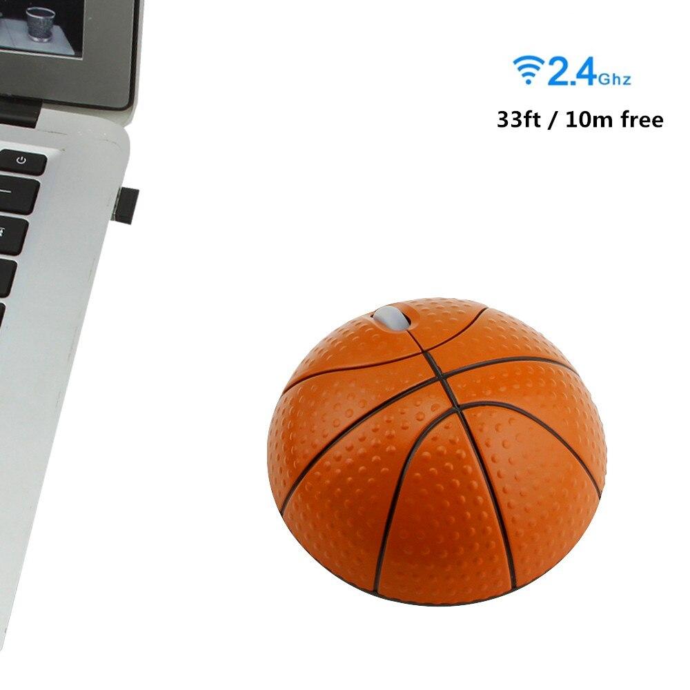 Беспроводная эргономичная игровая мышь в форме баскетбола, 2,4 ГГц, 1200 DPI, USB-4