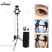 MAMEN Photographic Lighting 6 Tubes 336 LEDs 3200 5500K 120W Dimmable Camera Photo Studio Telephone Video Ring Light Lamp Stand