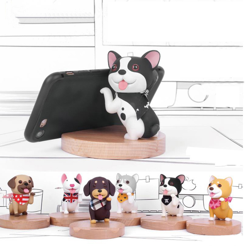 Mobile Phone Holder For iPhone Huawei Xiaomi samsung Cute mini Cartoon dog Phone Accessories Stand Desk Tablet Stand Desktop