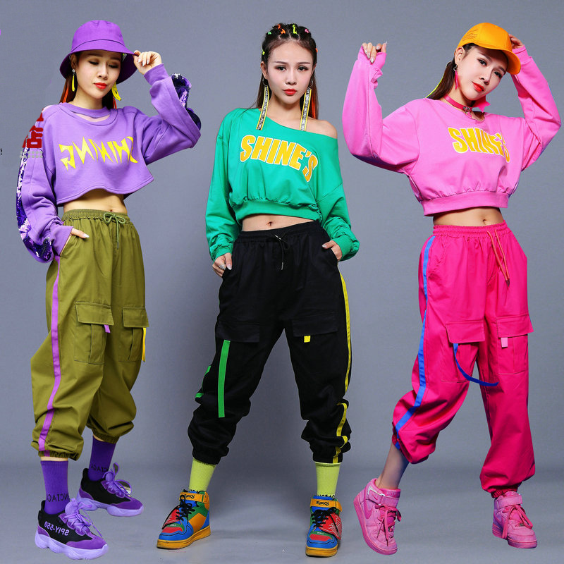 Hip Hop Dance Costume Women Street Dancing Clothes Nightclub Singer Ds Dancer Rave Outfit Adults Jazz Stage Dancewear DT1046