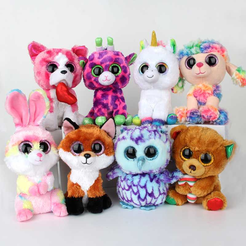 15-20CM TY BEANIE BOOS Cute Alpaca Gabby Goat unicorn Plush Toys Stuffed Doll animals soft toys Baby For Christmas Birthday Gift ty collection beanie boos kids plush toys big eyes slick brown fox lovely children gifts kawaii stuffed animals dolls cute toys