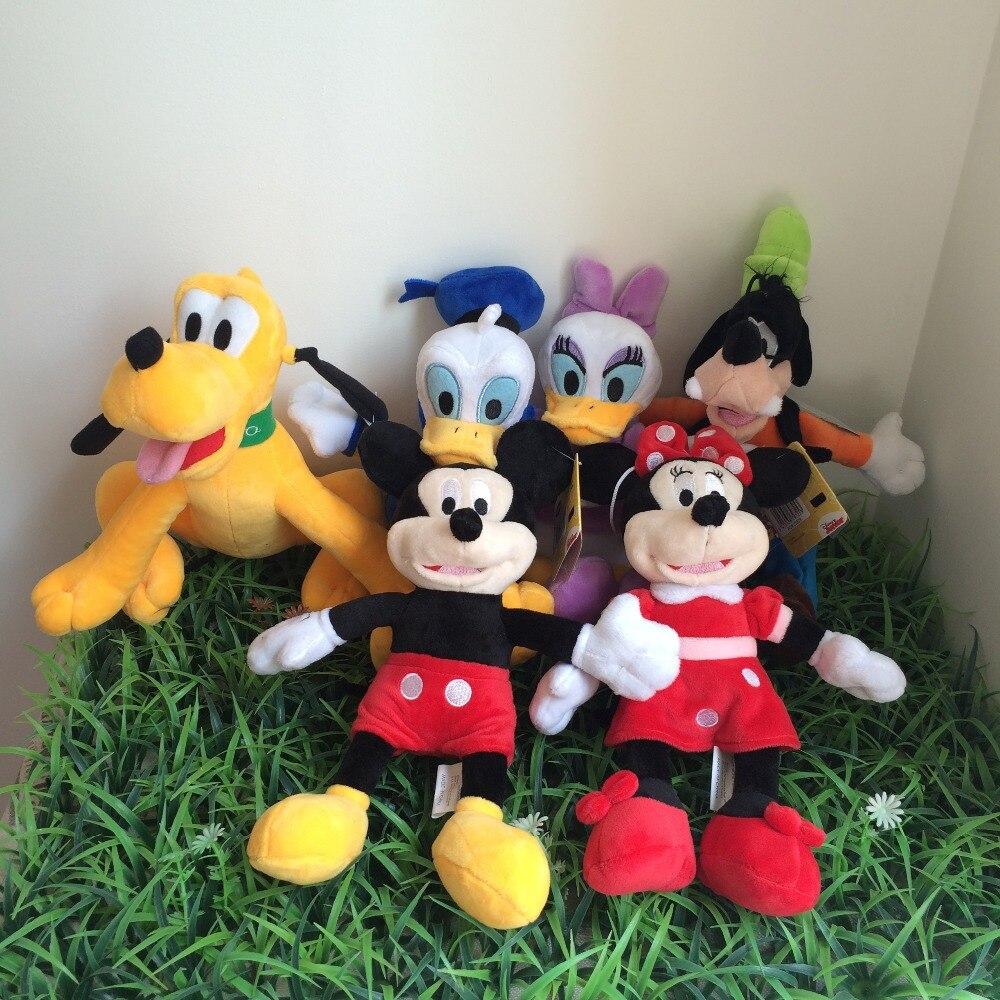 US $36 88 30 Cm Kualitas Tinggi Minnie Lucu Boneka Mickey Mouse Pato Donald Bebek Daisy Plutocrat Konyol Anjing Plush Mainan Untuk Anak Hadiah 6