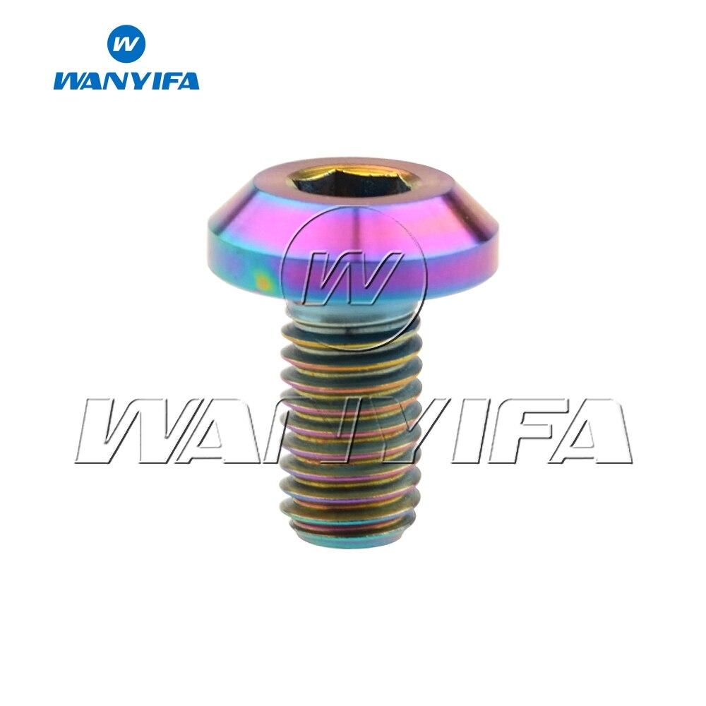 M6 x 12 15 20 25 30 35 мм шестигранный ключ коническая головка Винт С Титановым болтом для велосипеда мотоцикла дисковый тормоз - Цвет: M6x20mm Rainbow