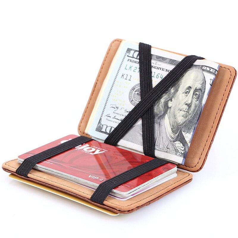 New Arrive Fashion Design Men Magic Wallet Elastic Money Wallets Female Small Card Holder Clutch Gift Purse new big brothers money cigarette card case box holder