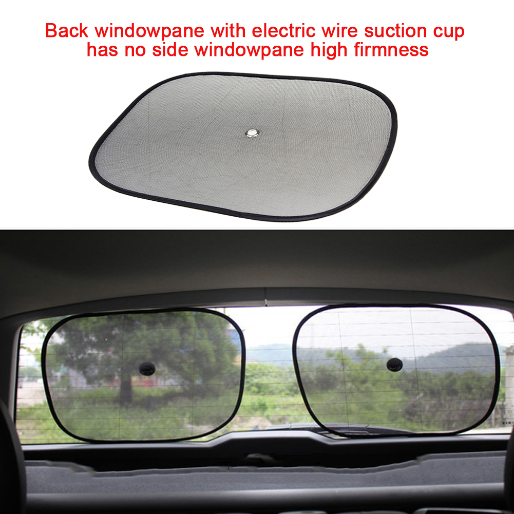 Pair Universal adjustable Car Sun Mesh Blind Rear Window Sun Shade