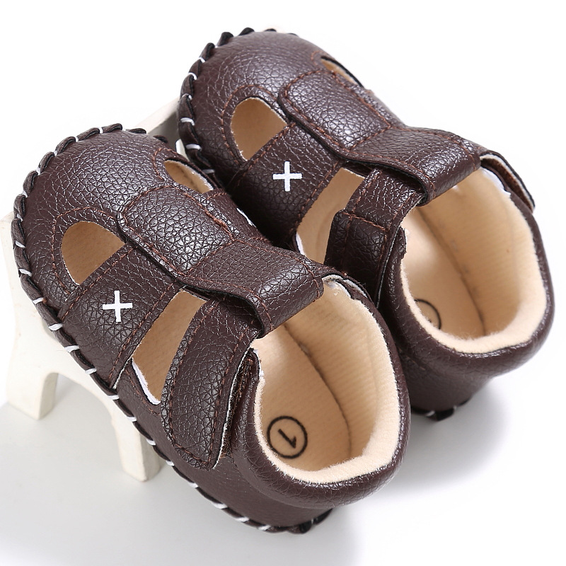 Raise Young Summer PU Leather Baby Boy Sandals Soft Soles Non-slip Solid Toddler Girl Shoes Newborn Infant Footwear 0-18M
