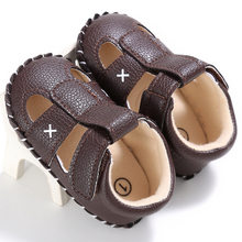 4d1573514a667 Raise Young Summer PU Leather Baby Boy Sandals Soft Soles Non-slip Solid Toddler  Girl Shoes Newborn Infant Footwear 0-18M