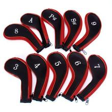 Buy HobbyLane 10 PCS Golf Club Head Cover Iron Putter Headcover Protect Set Number Printed with Zipper Golf Club Accessories directly from merchant!
