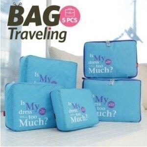 Image 2 - Для путешествий на открытом воздухе 5 бумажный набор сумка для хранения Принимаем пакет водонепроницаемый шкаф Органайзер вакуумный мешок для одежды Sac дальномер Sous Vide