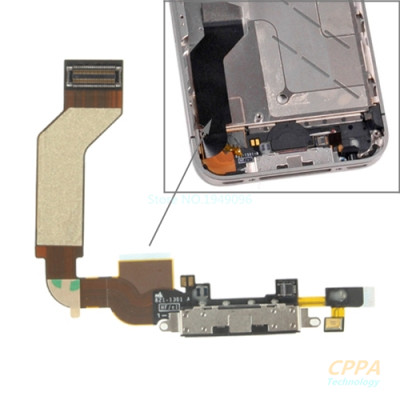 Dock Connector Charging Port Flex Cable for iPhone 4S (High Quality) – Black parts