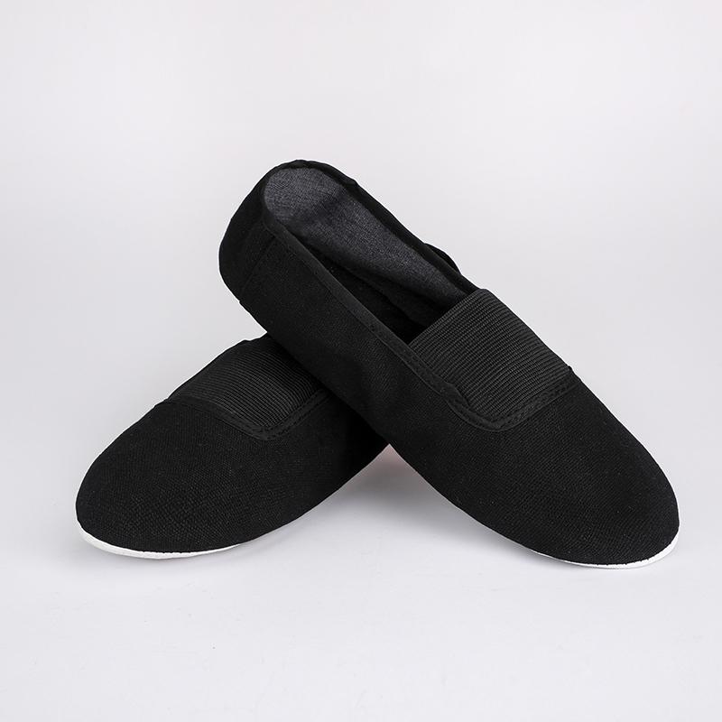 USHINE EU22 45 upgraded Black Red Canvas Slippers Teacher Gym Indoor Exercise Fitness Yoga Ballet Dance Shoes Children Woman Man