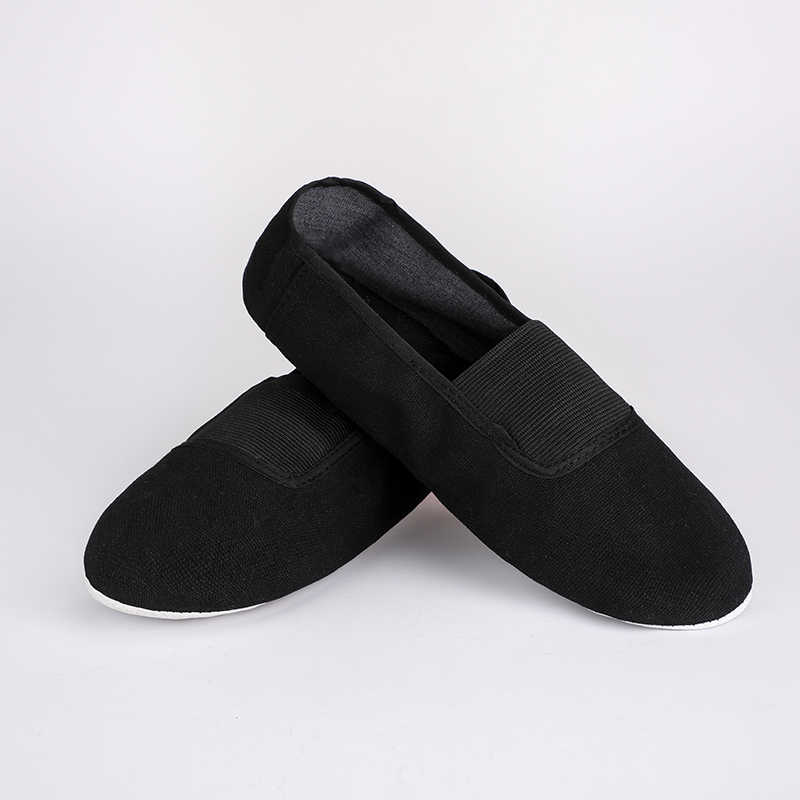 USHINE EU22-45 משודרג שחור אדום בד כפכפים מורה כושר מקורה תרגיל כושר יוגה בלט ריקוד נעלי ילדי אישה איש