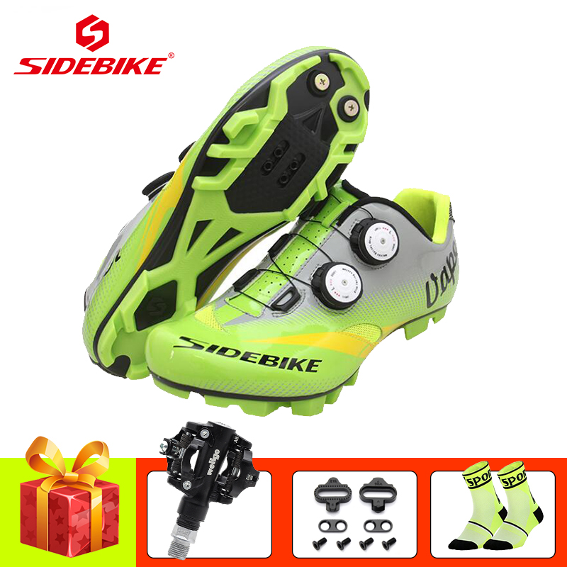 SIDEBIKE sapatilha ciclismo mtb bicicleta cycling shoes 2019 men women mtb spd pedals self locking senakers mountain bike shoes|Cycling Shoes|   - title=