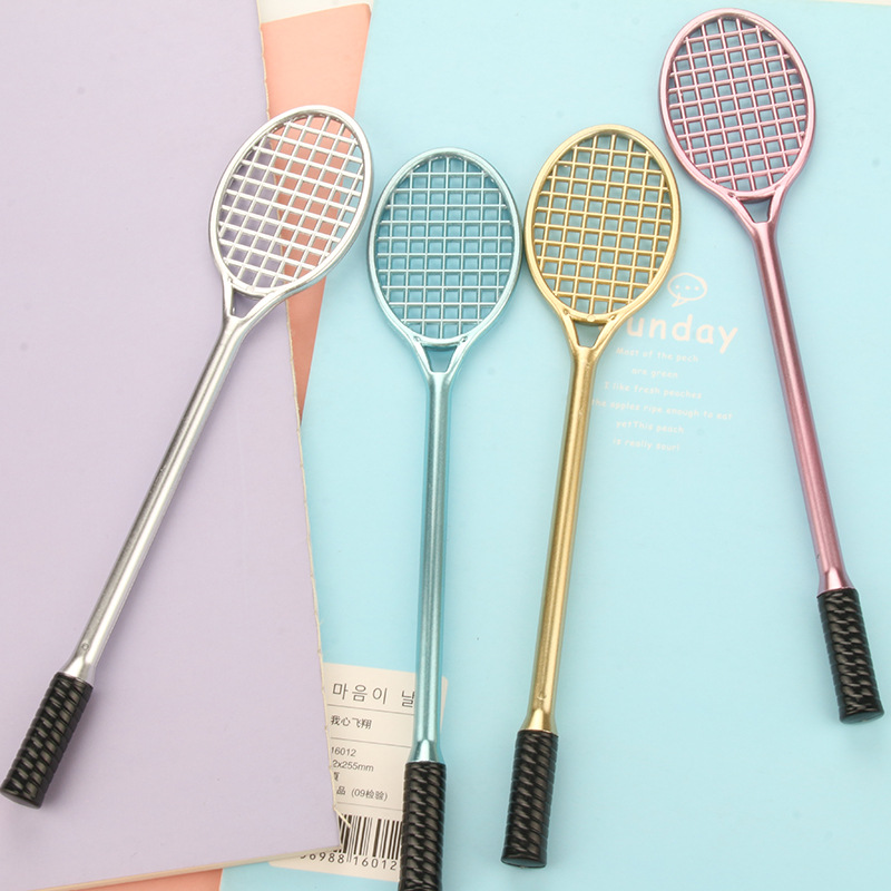 0.38mm Creative Cute Kawaii Badminton Racket Plastic Gel Pen For Kids Writing Gift Korean Stationery Free Shipping 3666 creative business gift holiday gift pen writing pen gorgeous high end gift signature pen cute lady writing pen