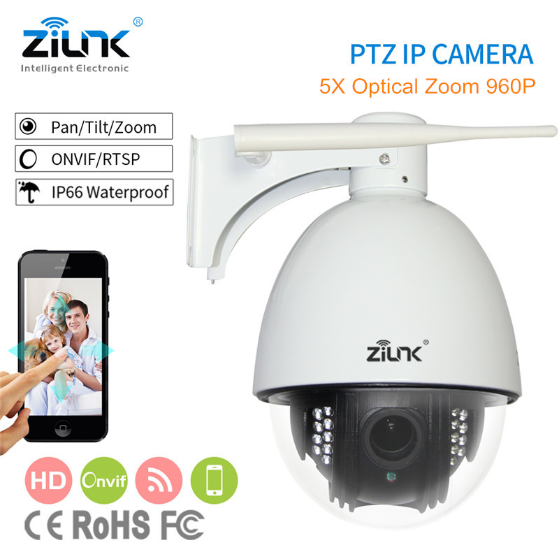 High Speed Dome Camera HD 960P 5X Zoom PTZ IP Camera Security CCTV Outdoor Night Vision Support Onvif P2P IPC Patent Design 805 d20xa p2p outdoor1 3mp 960p hd 20x zoom 250m laser ir cut night vision ip ptz high speed dome onvif outdoor security camera