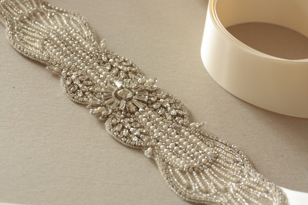 TOPQUEEN S27 Women's Rhinestones Crystals Bridal Bride Waist Wedding Belts Sashes Accessories For Evening Party Gown Dresses
