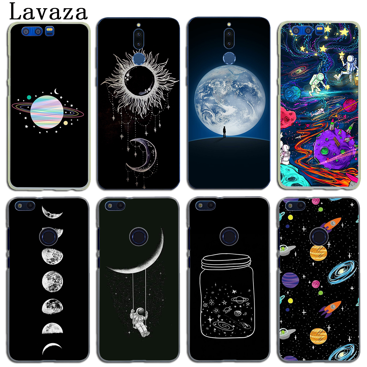 Collection Here Lavaza Sun And Moon Black Silicone Case For Huawei Honor 6a 7a Pro 7x 8 Lite 8x 8c 9 Note 10 Last Style Phone Bags & Cases