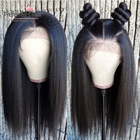 Preferred Brazilian Remy Kinky Straight Wig Preplucked 13x6 Lace Front Wig Yaki Human Hair Full Lace Wigs For Black Women