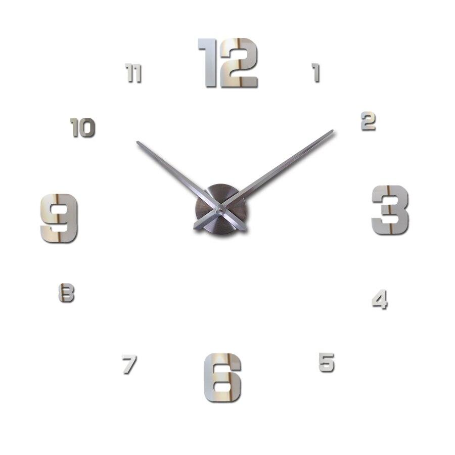 nové nástěnné hodiny akrylové kruhové zrcadlo diy hodiny reloj de pared domácí výzdoba křemen hodinky obývací pokoj evropa nástěnné samolepky