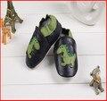Desenhos de moda de couro genuíno do bebê sapatos macios sole skid à prova de crianças sapatos da criança prewalker bebe sapatos FTD01