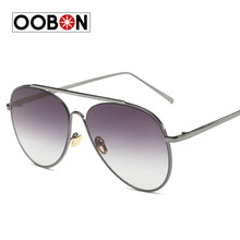 OOBON High Quality Unisex Sunglasses Alloy body Colorful Mirrored Top Grade glass Lens Men Women Driving Classic Sun Glasses