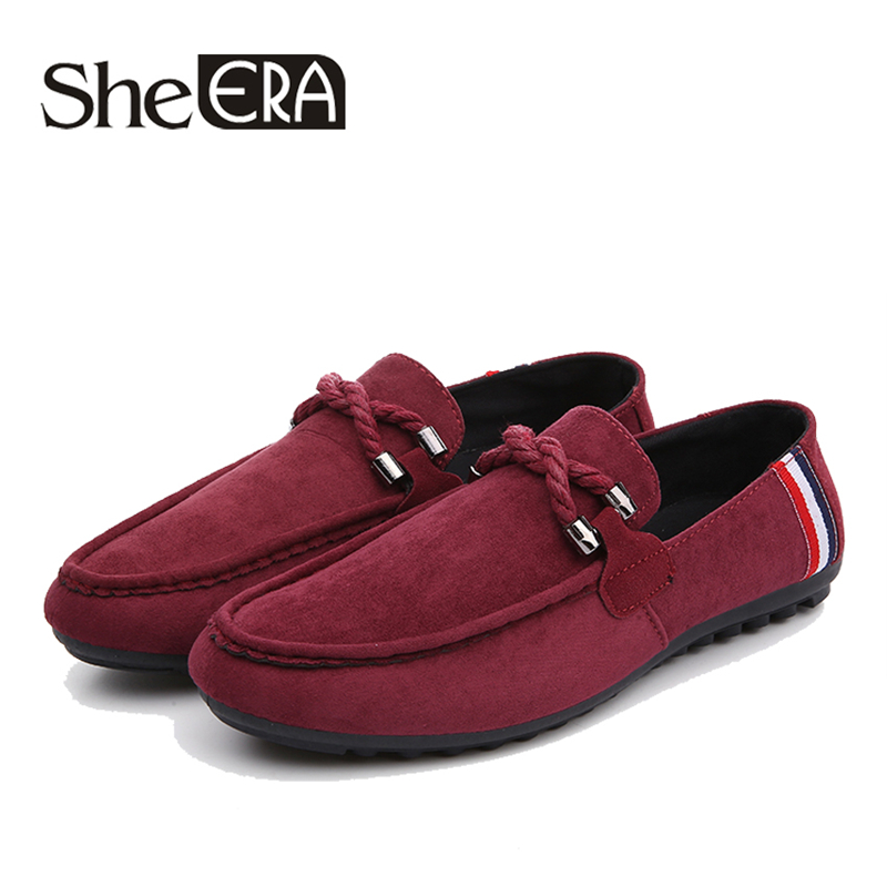 Casual Men Loafers High Quality Driving Shoe Faux   Suede   spring autumn mens moccasins shoe Artificial   leather   men's flats shoes
