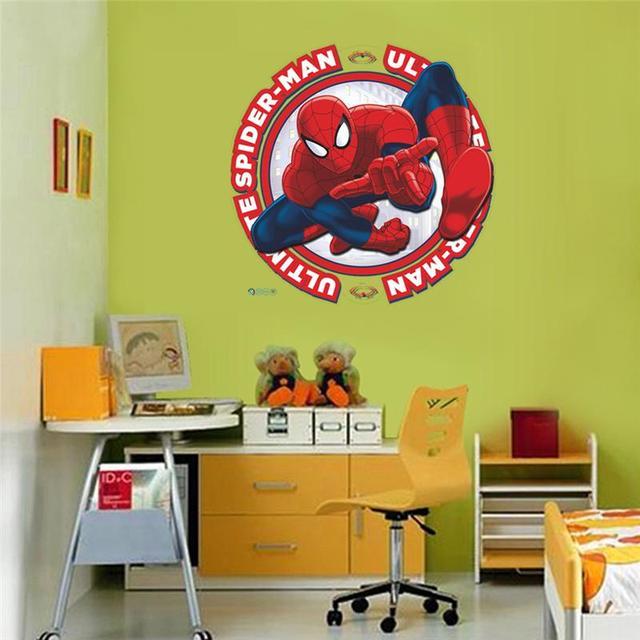 Spider man Wall Stickers Kids Room Decor Avengers Super Heros Diy ...