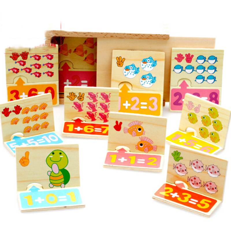 Home Loyal Wooden Montessori Toys Animal Counting Mathematical Cognition Jeu De Logique Logic Game Latest Technology