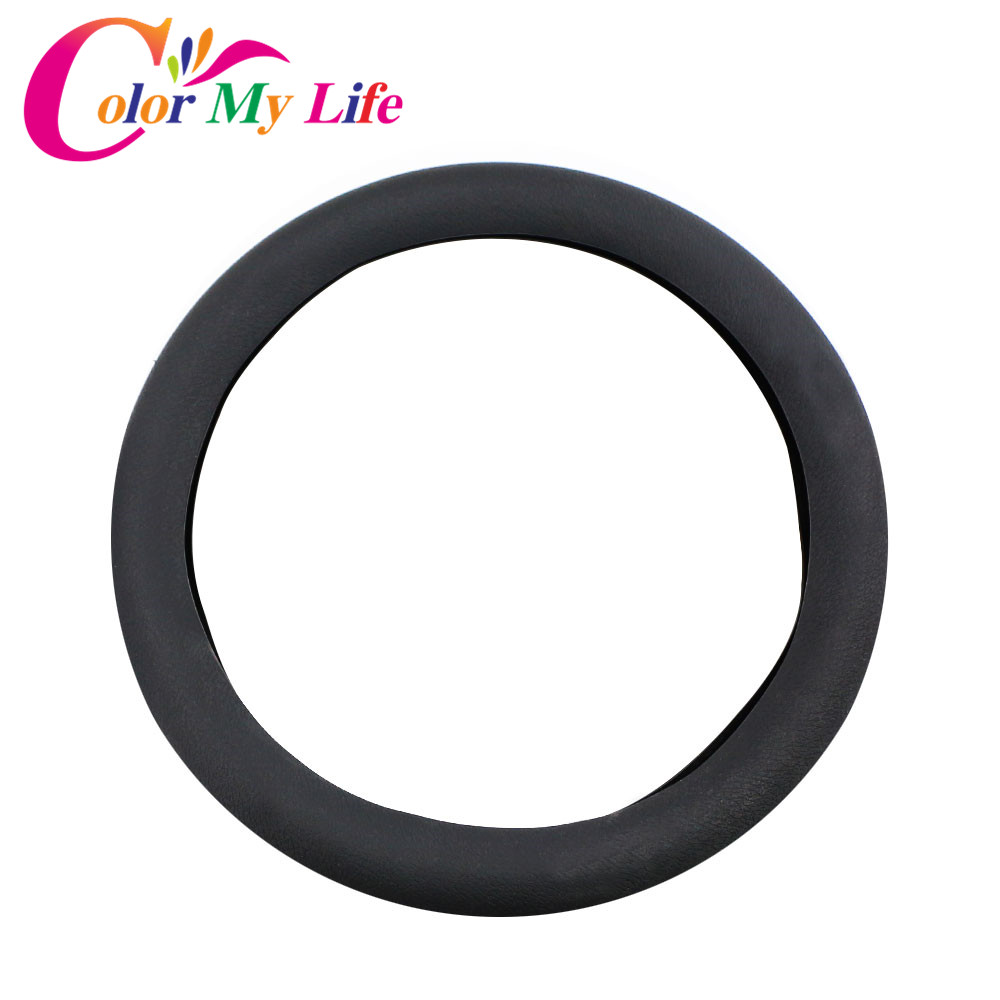 Color My Life Silicone Car Steering Wheel Protection Cover for Renault Sceni C1 2 C3 Modus Duster Logan Sandero Accessories