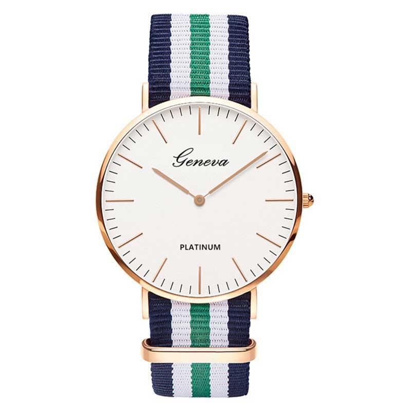 Luxe merk nylon band horloges 2018 mode casual quartz horloge vrouwen - Dameshorloges - Foto 5