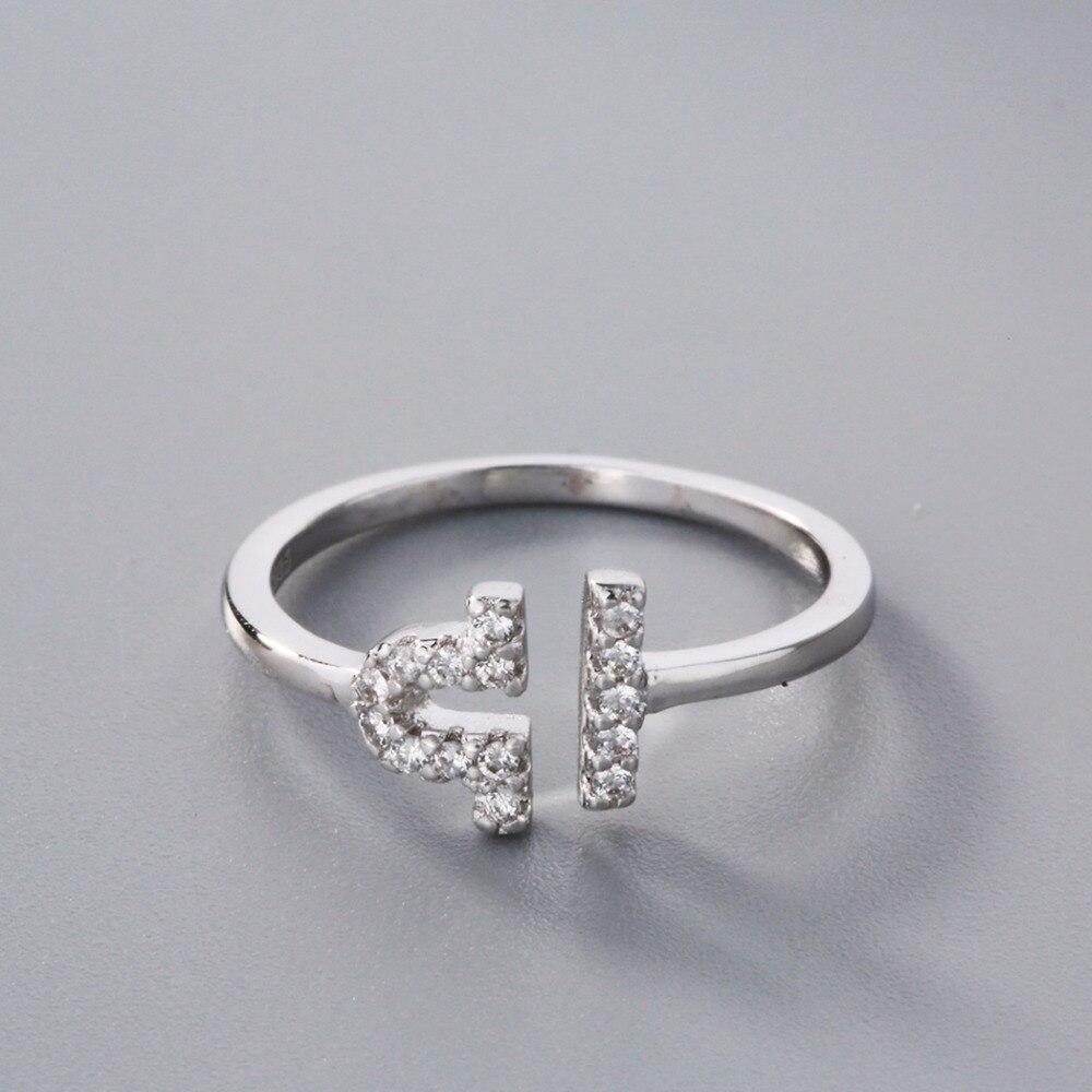 04ed4ea8a8d2 Kinitial de plata 925 Libra anillo AAA + anillo de circón de moda ...