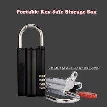 กุญแจคุณภาพสูงปลอดภัยกล่อง 4 รหัสผ่านดิจิตอลล็อคซ่อนอะไหล่ Key ปลอดภัยจัดเก็บกล่องสำนักงาน Carvan วิลล่า