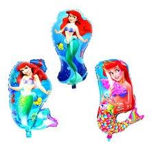 10pcs/lot shaped Mermaid Foil Balloon helium ballons for mermaid party Birthday Party Girl Gift Ariel of Cartoon Helium globos