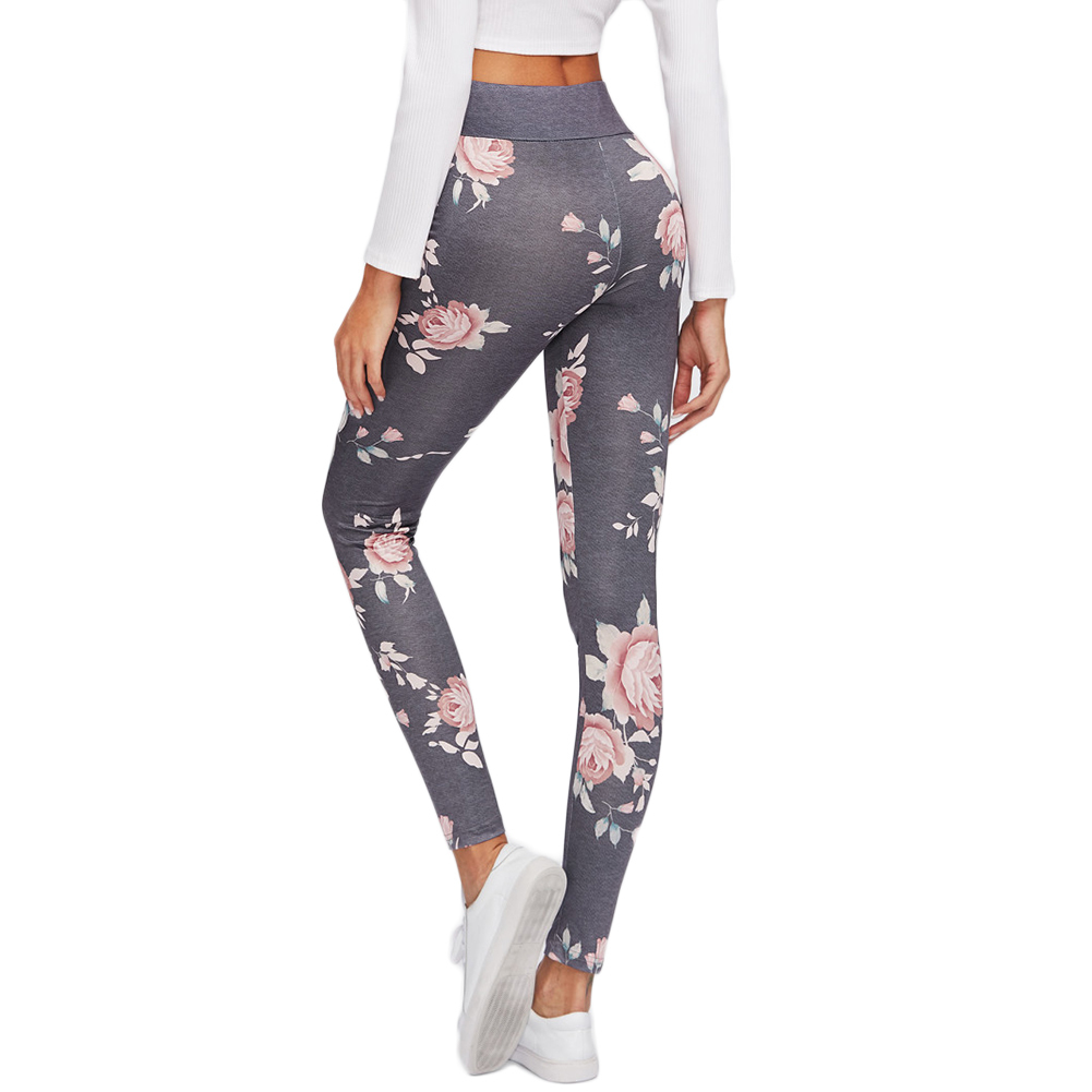 Sport Leggings High Waist Compression Pants Gym Clothes Floral Print Sexy Running Yoga Tights Women Fitness Yoga Pants