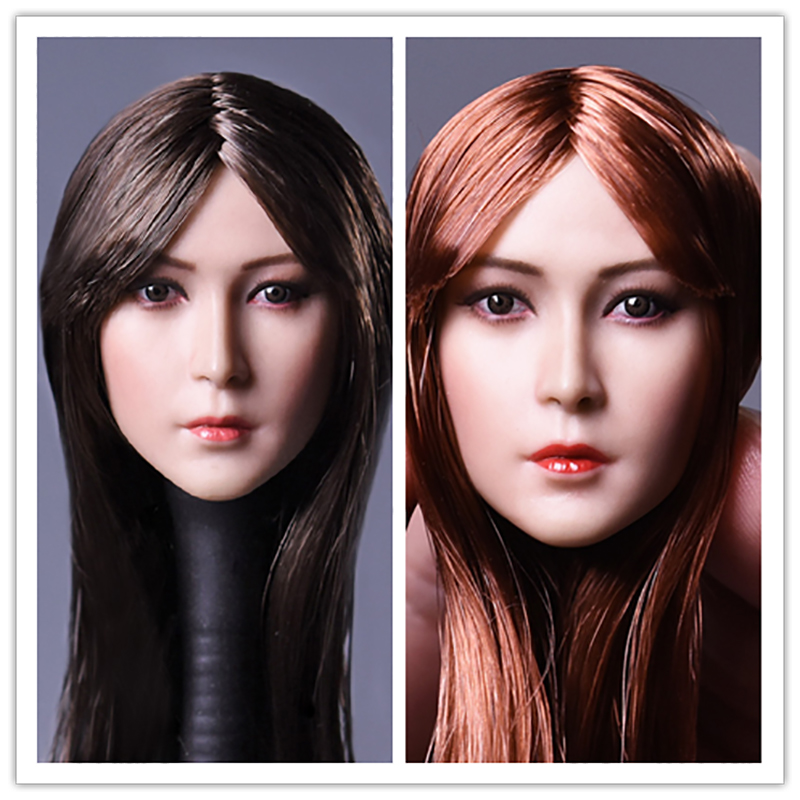 DSTOYS D008 A/B 1/6 Scale Asian Girl Hair Beauty Head Sculpt for 12 Inch Phicen TBleague Jodoll Verycool Action Figure Doll Toys 1 6 female head for 12 action figure doll accessories marvel s the avengers agents of s h i e l d maria hill doll head sculpt