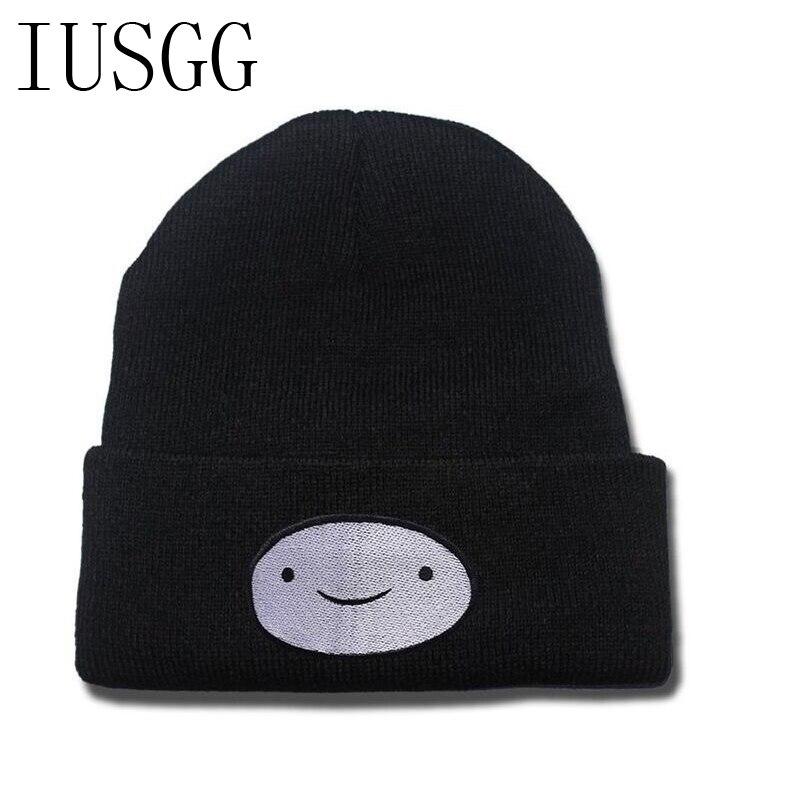 Cartoon Smile Pattern New Winter Hat   Skullies     Beanies   Knit Hat For Men Women Unisex Headgear Women Hat Female Thick Cap 2019 Hot