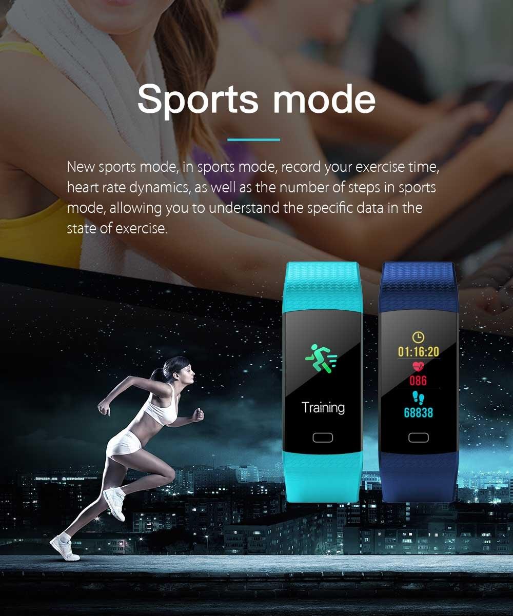 K20 Цвет Экран спортивный браслет на запястье браслет сердечного ритма крови Давление монитор Фитнес трекер для Cubot X15 X12 X17 X9 X6 - 5