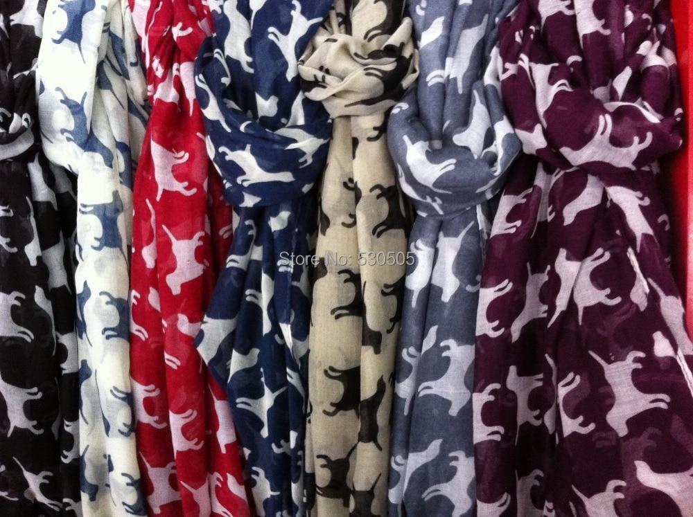 9563828621b Mulheres moda Lenços da Cópia do cão cachecol Mulheres Cachecol Hijab  Infinito Frete Grátis