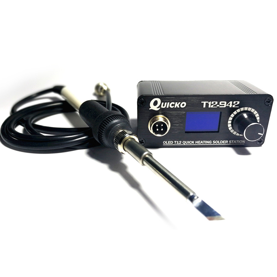 Quicko 4 Pin T12 Metal Soldering Iron Handle for T12-952 T12-942 T12-941 T12-951