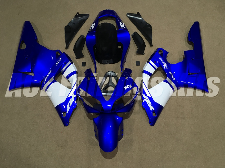 New Fairings Kits Fit For Yamaha YZF 1000 R1 00 01 YZF R1 2000 2001 ABS Plastic Motorcycle Fairing set Cowling white blue|Full Fairing Kits|Automobiles & Motorcycles - title=