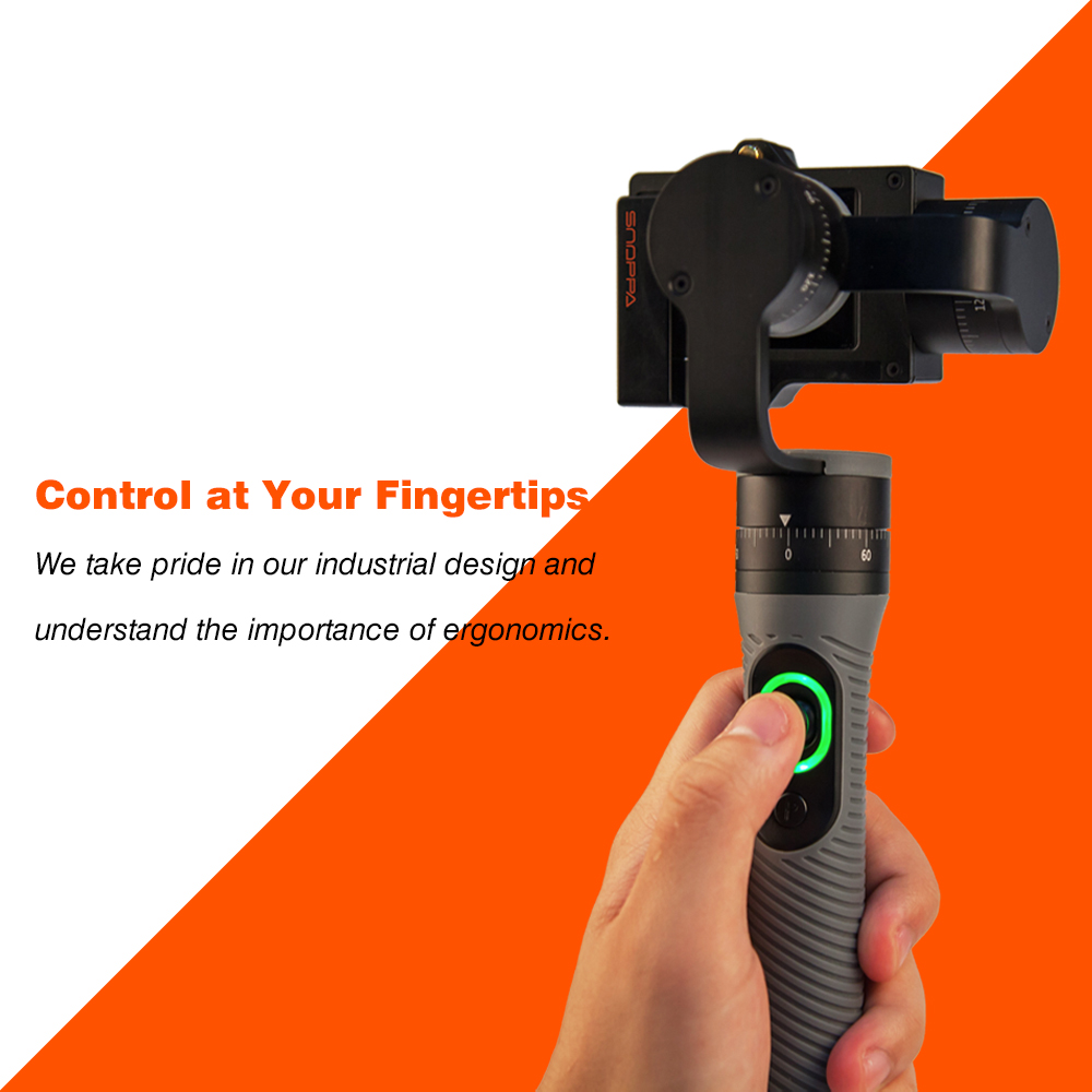 3-Axis Handheld Gimbal Camera Stabilizer for GoPro Hero4/3+/3 and Other Sports Cameras of Similar Size [hk stock][official international version] xiaoyi yi 3 axis handheld gimbal stabilizer yi 4k action camera kit ambarella a9se75 sony imx377 12mp 155‎ degree 1400mah eis ldc sport camera black