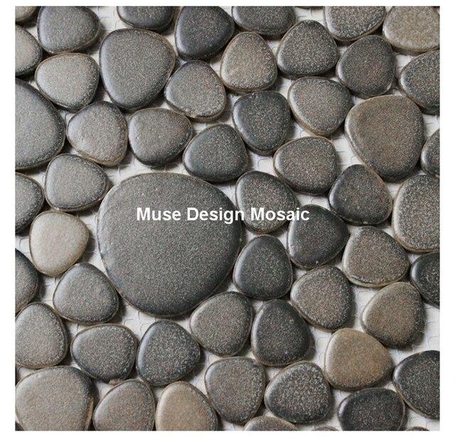 Pebble Keramik Fliesen Für Bad Dusche Fliesen Küche Backsplash Gartenweg  Flur Schwimmbad Mosaik Braun Farbe