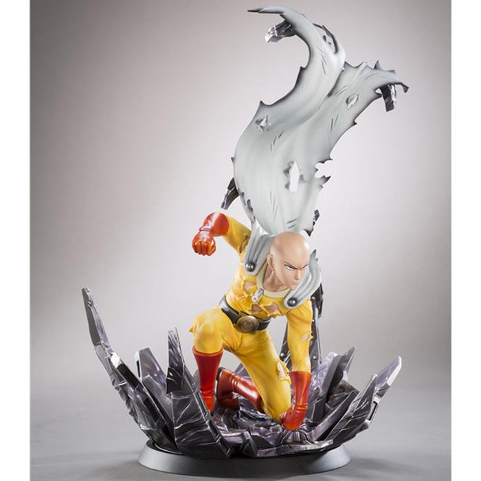 Free Shipping 10 Anime One Punch Man Saitama Broken Ground Ver. Boxed 24cm PVC Action Figure Collection Model Doll Toy Gift free shipping 8 dragon ball z anime android no 18 stand ver boxed 19cm pvc action figure collection model doll toy gift