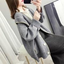 long sleeve knitted front open women Kimono cardigans sweater korean loose knit womens clothing fall winter 2019 jumper women