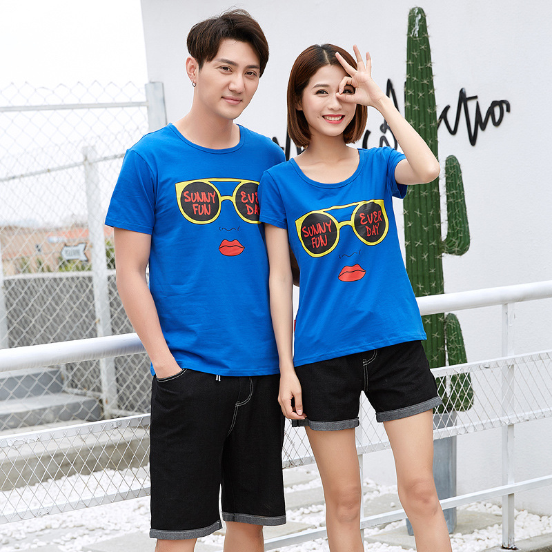 Family Matching Clothes Mother Father Kid T-shirt Short Sleeves Four Family Outfits Spring Summer