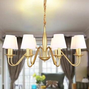 Paese americano droplight Nordic Ristorante lampade in ferro battuto luci lampada di arte del Panno imitazione di rame lampadario