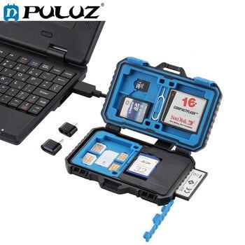 PULUZ Card Reader + 22 in 1 Memory Case for 1Standard SIM 2Micro-SIM 2Nano-SIM 3CF 7SD 6TF 1CARD PIN